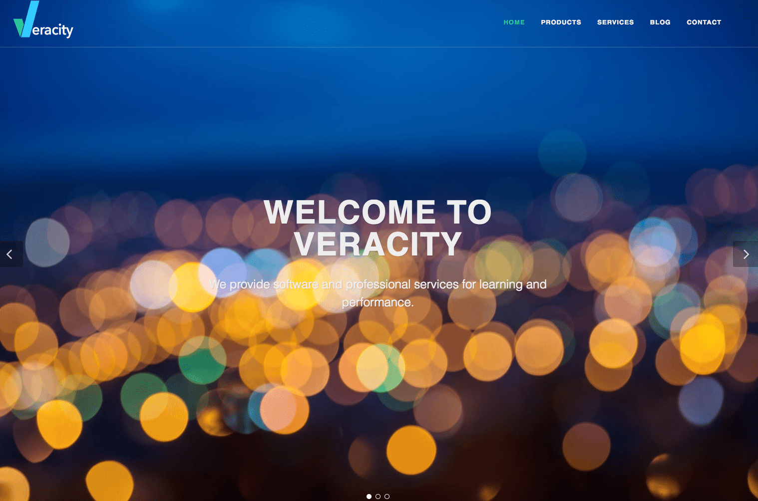 IT's Here! The New Veracity Website